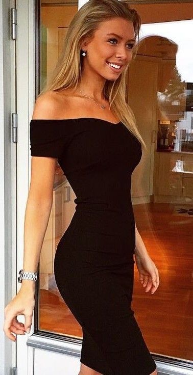summer #hot #weather #outfitideas | Off The Shoulder Little Black .