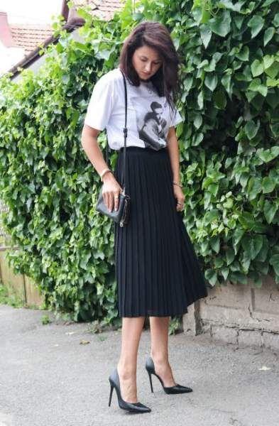 Trendy Skirt Pleated Black Simple 41 Ideas #skirt | Pleated skirt .