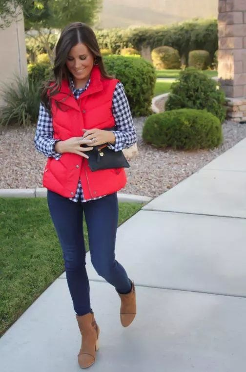 15 Eye Catching Red Vest Outfit Ideas: Style Guide for Ladies .