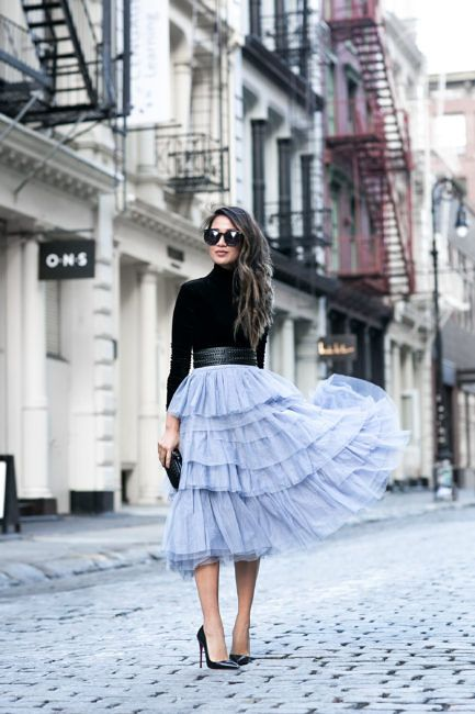 A New York Minute :: Classic timepiece & Tulle skirt | Blue tulle .