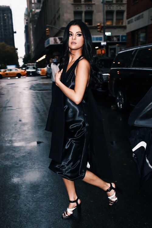 Black Satin Dress: Elegant and Sophisitcated Outfit Ideas - FMag.c