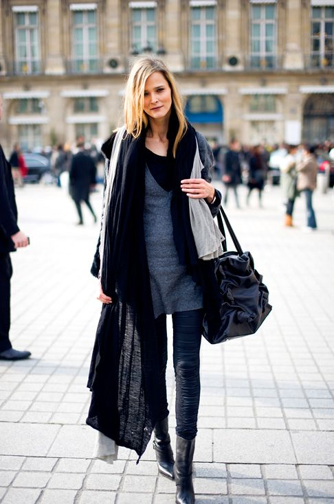 great black scarf » Celebrity Fashion, Outfit Trends And Beauty Ti