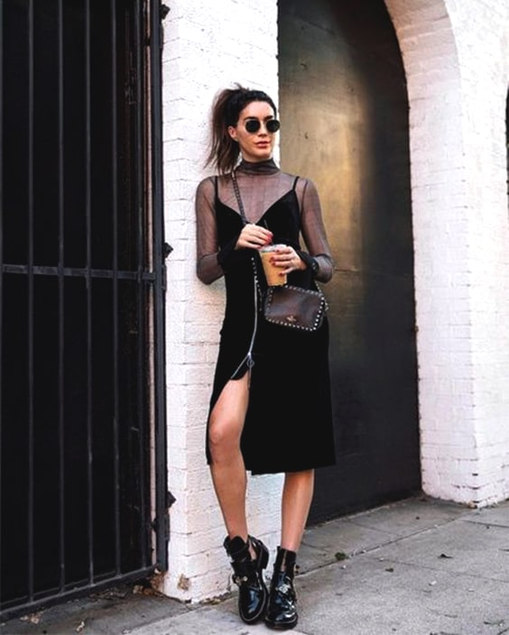 black-velvet-dress-outfit-new-years-outfit-ideas-min | Ecemel