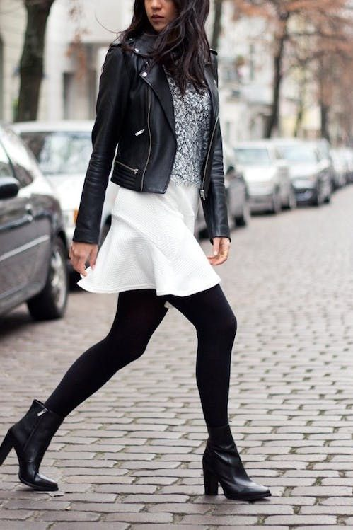How to Wear Ankle Boots with Short Legs | Fashion, Leather jacket .