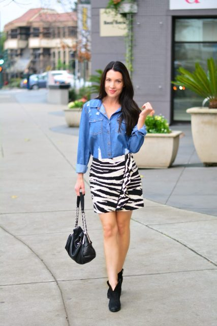 18 Trendy Zebra Printed Skirt Outfits For This Fall - Styleohol
