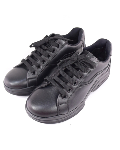 Prada PRADA 5 1/2 leather black sneakers Women on Reebo