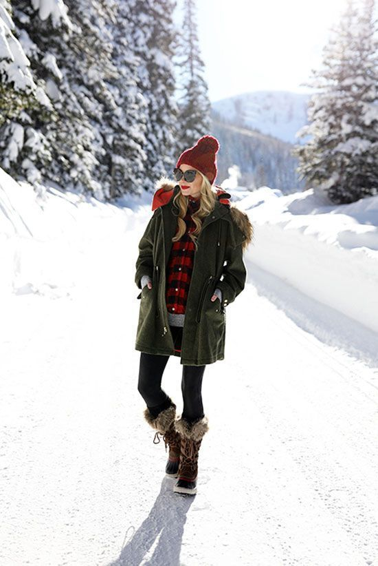 5 Stylish Snow Outfit Ideas | Snow outfits for women, Snow day .