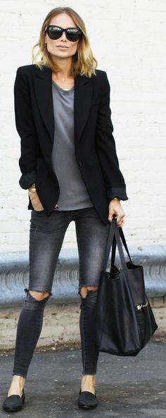 342 Best Black blazer outfits images in 2020 | Outfits, Street .