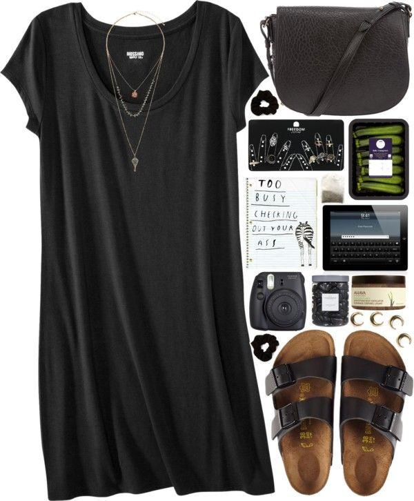 Birkenstock sandals / Alexander Wang studded purse / Topshop set .