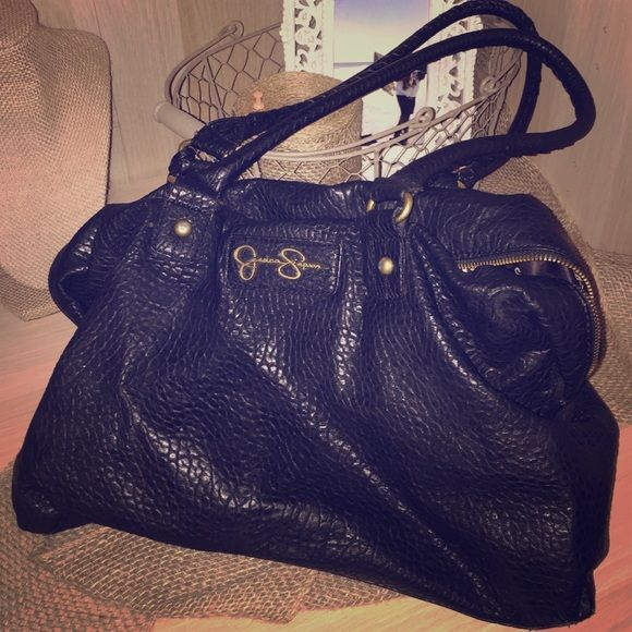 JESSICA SIMPSON BLACK STUDDED PURSE Gorgeous bag, great condition .
