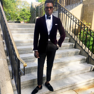 How To Wear Black Suede Loafers With Black Dress Pants For Men (15 .