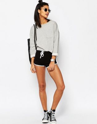 ASOS Basic Runner Shorts with Contrast Binding | Sporty shorts .