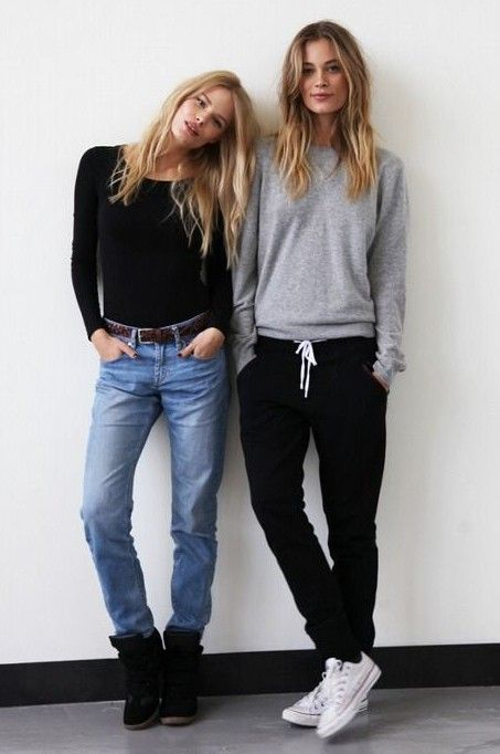 School outfits with black sweatpants | Outfit Ideas With Joggers .