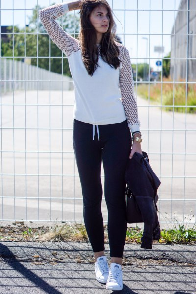 How to Wear Black Sweatpants for Women: Top Outfit Ideas - FMag.c