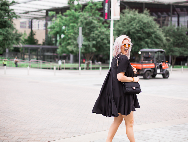 Little Black Swing Dress | so then they s