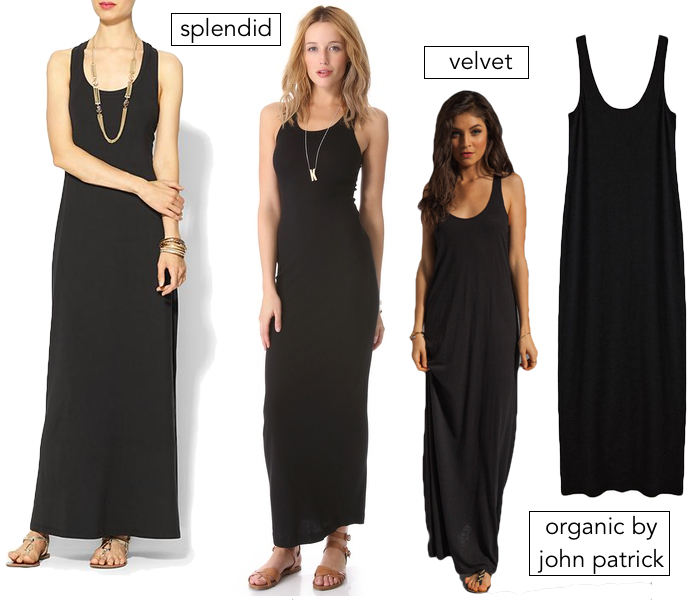 In search of : Black maxi dress under $100 & Made in the