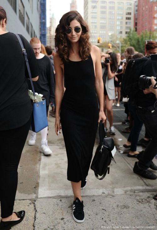 What to Wear This Weekend: Midi Tank Dress, Sneakers | Fashion .