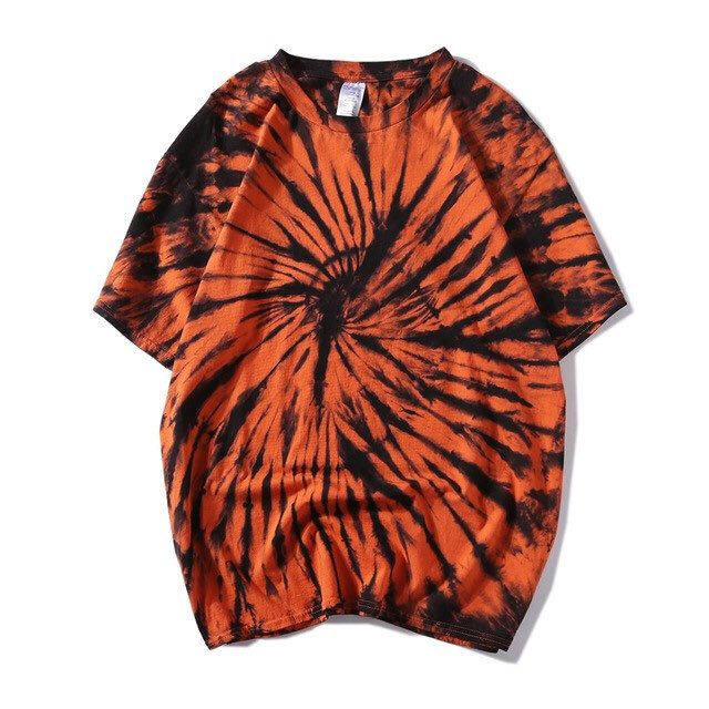 Flame tie dye t-shirt | orange, orange tie dye, black, goth .