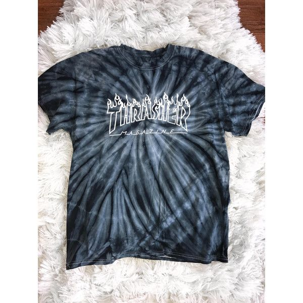 Thrasher Magazine Logo Tie Dye T shirt Skateboarding ($26 .