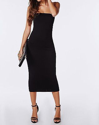 Cute Black Tube Midi Bodycon Dress | Black tube dress, Dresses .