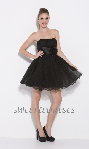 Cute tulle flower short dress - Homecoming Dress