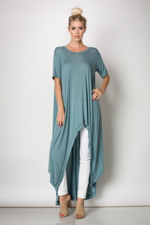 High low tunic(Tunic Top Stylists) | Fashion, Loose shirt dress .