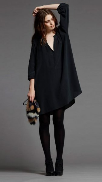 How to Wear Black Tunic Dress: Low-Profile Yet Beautiful Outfits .