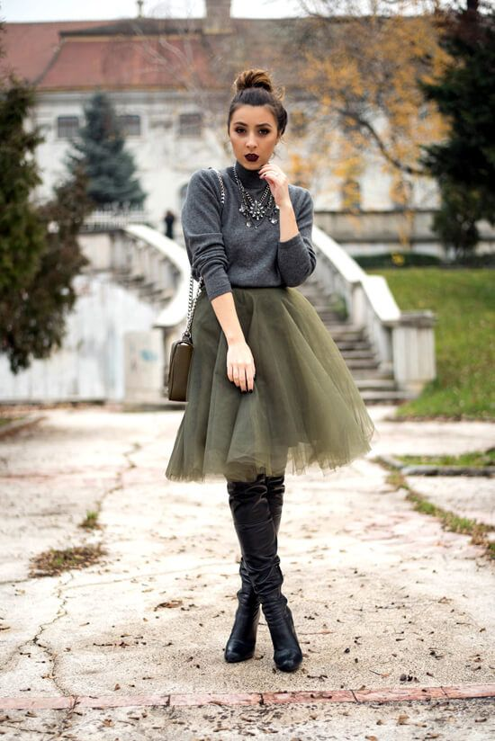 31 Tulle Skirt Outfit Ideas You'll Love | Black tulle skirt outfit .