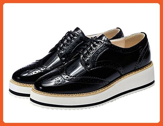 Centenary Women Fashion Oxford Flat Leather Flat Walking Shoe .