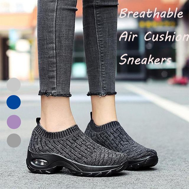 Atmungsaktive Air Cushion Shock Sneakers für Damen | Stylish .