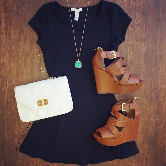 20 Chic Casual Outfit Ideas with Wedges (With images)   Fashion .