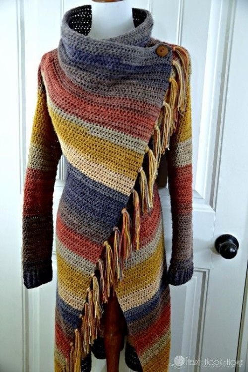 Blanket Cardigan - Free Crochet Pattern (Beautiful Skills .