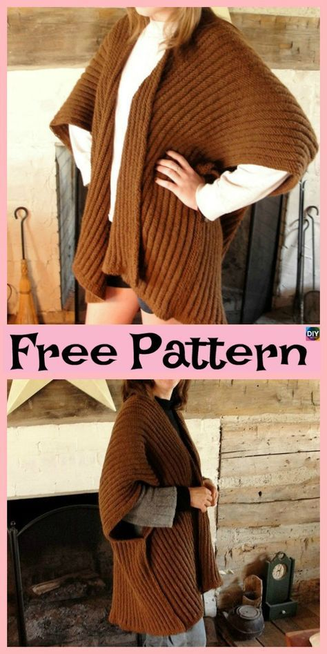 10 Beautiful Knit Blanket Sweater Free Patterns .