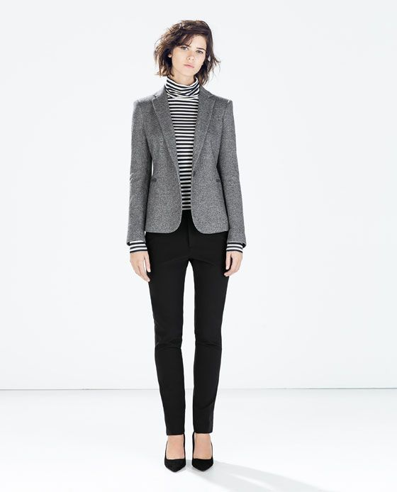 ZARA - WOMAN - BLAZER WITH ELBOW PATCHES | Blazer outfits for .