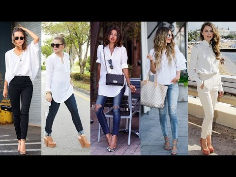 White Blouse Outfit Ideas For Ladies - YouTu
