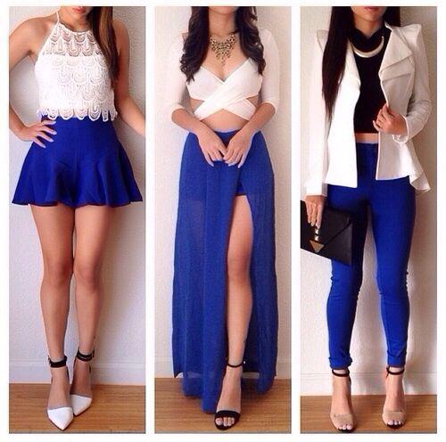 Royal Blue and White Dress – Fashion dress