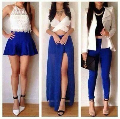 Blue n white combination | Fashion, Cute outfits, Fashion outfi