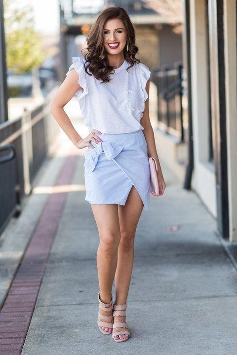 Pin by VISCAWEDDING on Womens Fashion | Preppy skirt, Striped .