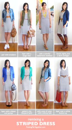 79 Best Striped dress outfit images | Striped dress, Striped dress .