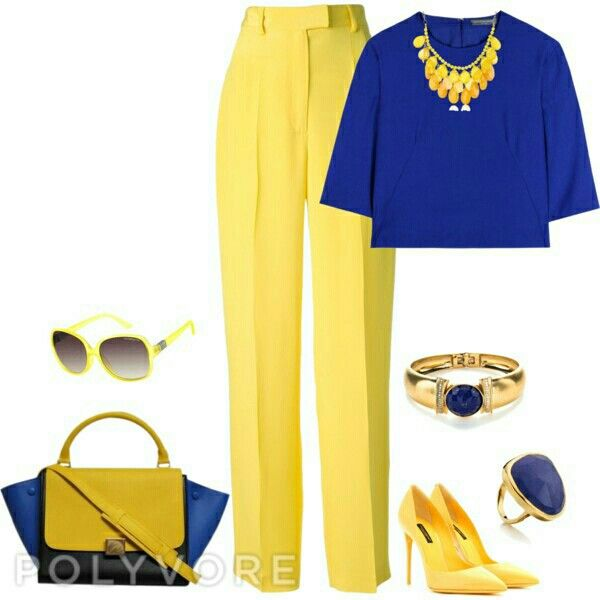 Royal blue and yellow outfit ideas | Yellow outfit, Yellow fashion .