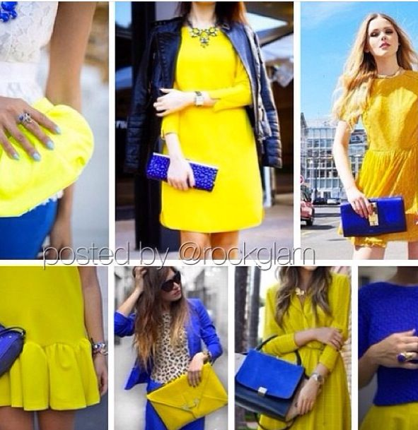Yellow and blue outfits | Blue outfit, Royal blue outfits, Yellow .