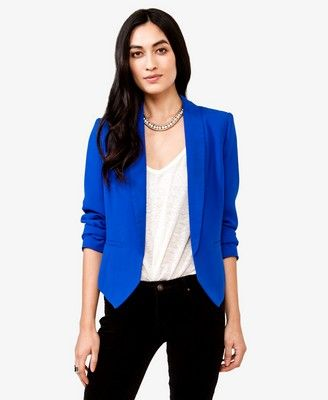 Good price for a sharp blazer in the bright colors of the moment .