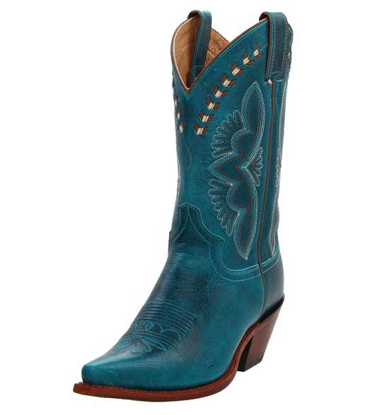 Turquoise boots for women of 2019 - Western boots for wom