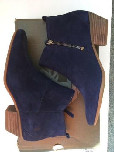 Timberland Womens Navy Blue Suede Ankle Boots Si