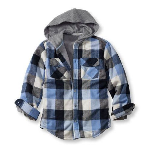 Wholesale Boys Hooded Flannel Shirt Jacket | Kids outfits, Boy .