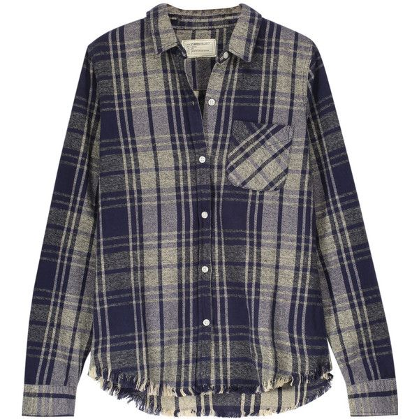 Current/Elliott - The Slim Boy Plaid Cotton-flannel Shirt ($99 .