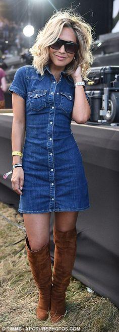 13 Best denim dress outfit ideas images | Denim shirt dress, Denim .