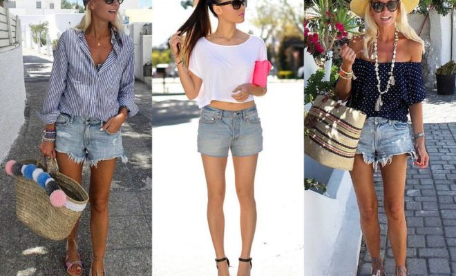 45 Ideas About What To Wear With Denim Shorts In Summer | Women .
