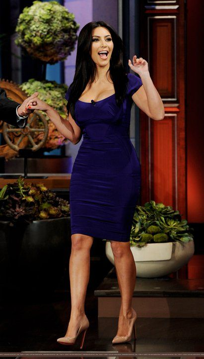 Kim Kardashian: royal blue dress, Kim Kardashian Outfit Ideas on .