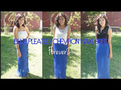 Blue Maxi Skirt Outfit Ideas - YouTu